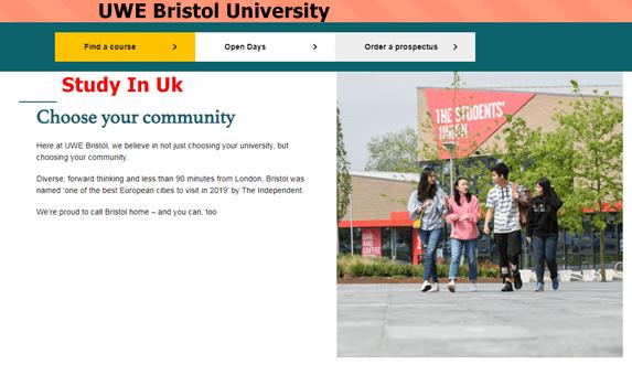 UWE Bristol University Admission – How To Apply For UWE Bristol University Admission