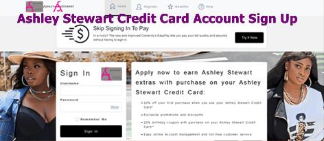 Ashley Stewart Credit Card Account Sign Up