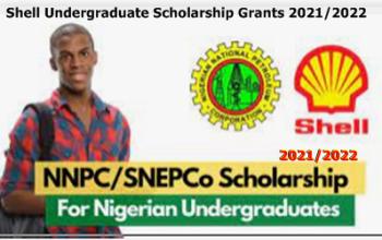Shell Undergraduate Scholarship Grants 2021