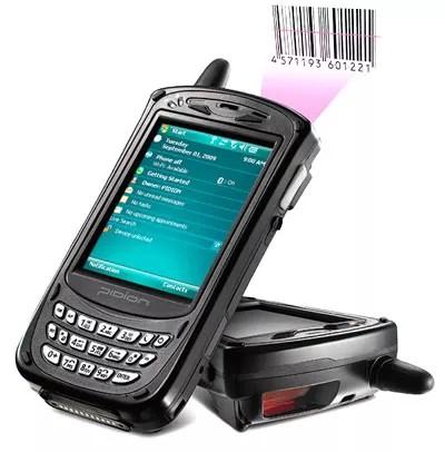 un terminal d'inventaire avec gestion des codes barres pour les commercants