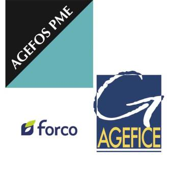 les logos des organismes de formation opca agefos forco agefice