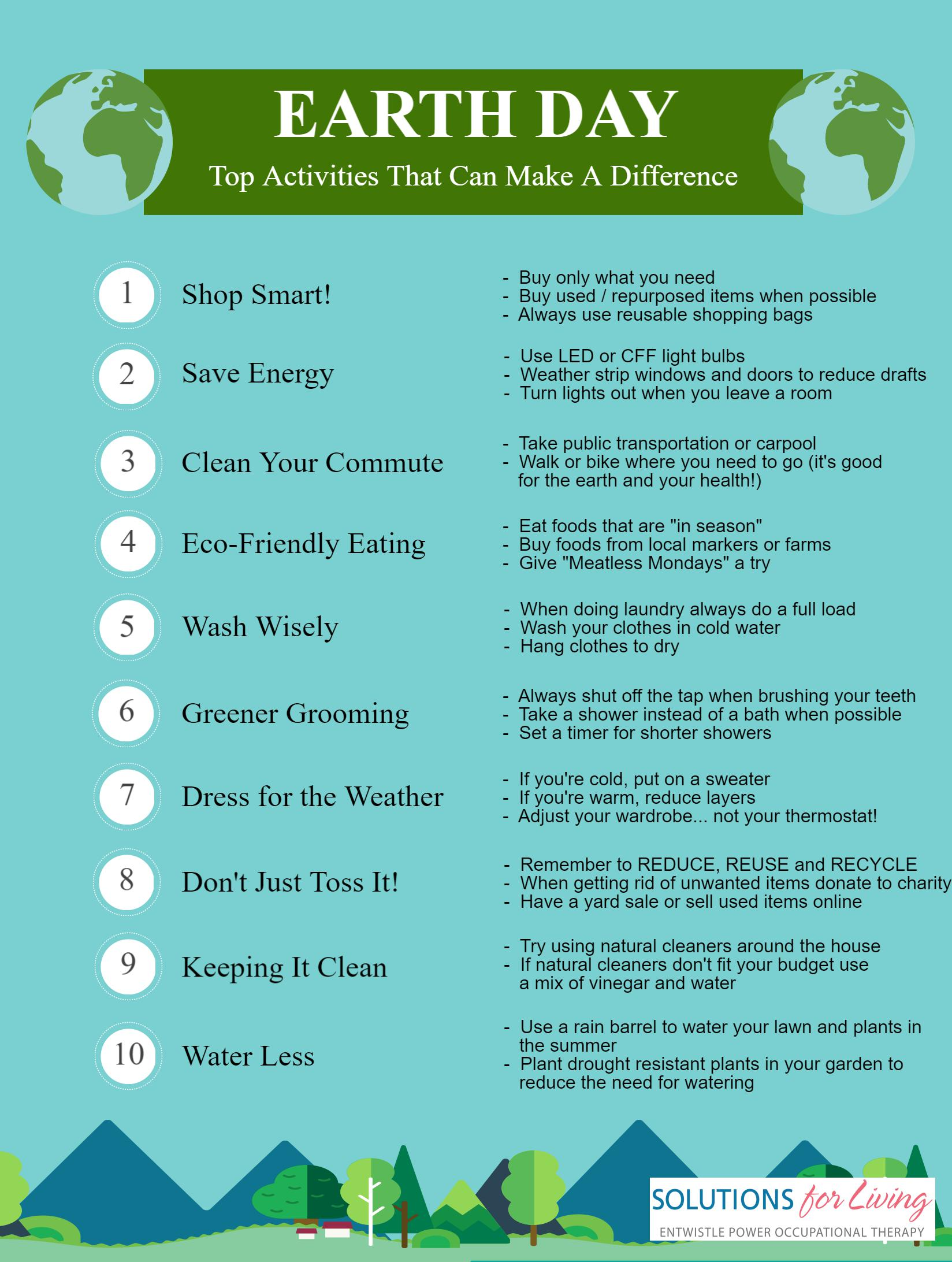 Earth Day Solutions For Living