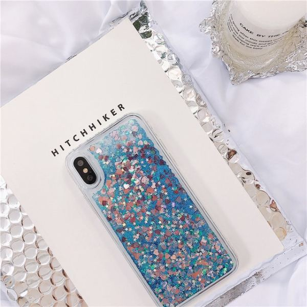 Blue Quicksand Glitter Cover for Samsung Note 9