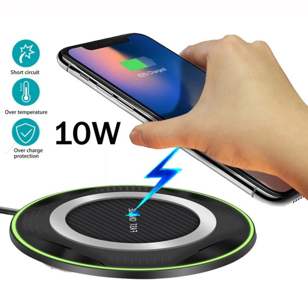 White Wireless Charger Fast Charging Pad
