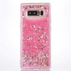 Pink Stars Quicksand Glitter Cover for Samsung Note 9
