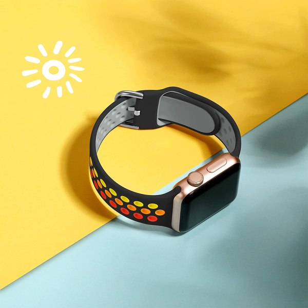 Apple Watch Strap Black Colourful 3