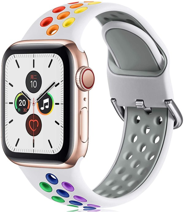 Apple watch strap White Colourful 1