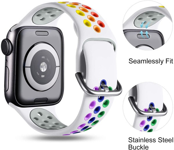 Apple watch strap White Colourful 7