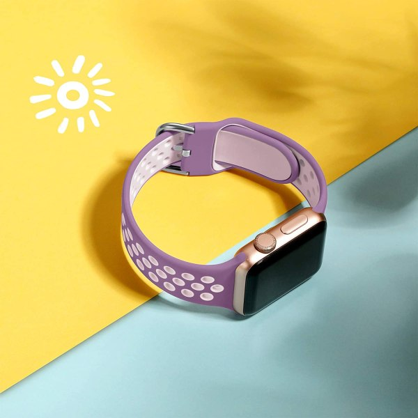 Replacement Strap Compatible with Apple Watch Strap Purple-Pink