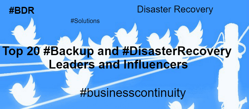 20 #Backup and Recovery Leaders and Influencers You Need to Follow
