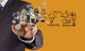 Solution X Marketing Business Man with the Art of Business