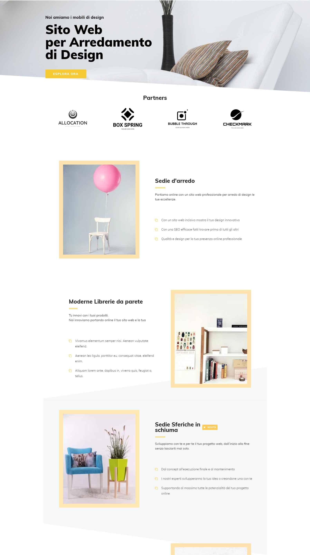 Arredamento di Design Soluzioni Digitali Online Sito Web Creare Realizzare siti Web SEO efficace ecommerce Marketing H02