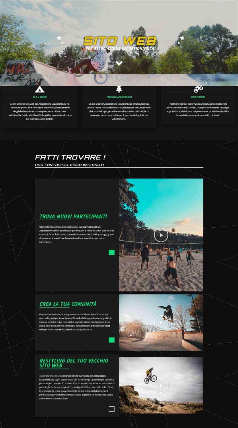 Sito Web per Associazione Escursionistica Rom Soluzioni Digitali Online Creare Realizzare siti Web SEO efficace ecommerce H-1
