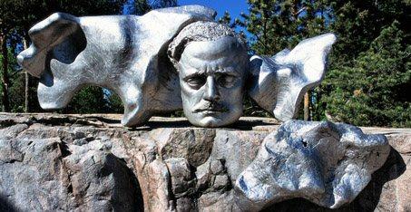 Jean Sibelius monument in Helsinki, Finland
