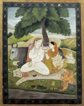 Shiva_and_his_family,_Pahari,_Late_18th_cent.