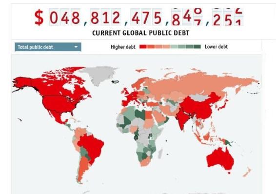 Countries_Loan_Economist_world_debt_map_2012