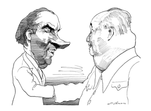 Richard_Nixon_Mao_zedong_China_USA_Leaders_Communism_President_1972_Caricature