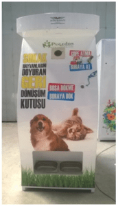 Stray_Dog_Cat_Dispenser_Food_Turkey_Recycle_Cans_Trash_Environment_Animals_Orphans_Feed_Good