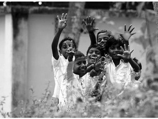 Kids_India_Chennai_Madras_Tamil_Nadu_Children_Happy_Run_Water_Village_Temple_Roadside_Suburbs