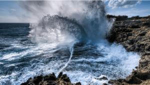 Waves_Crash_Water_Tears_teardrops_Sea_Ocean_Rocks_Crash_Force_Sky_Cloud_Blue