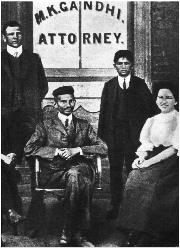 Henry_Polak_Left_Gandhi_South_Africa_SA_Race_Blacks_India_Millie_Graham_MG_MK_Gandi