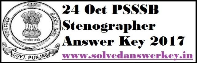 PSSSB Answer Key 2021 PDF
