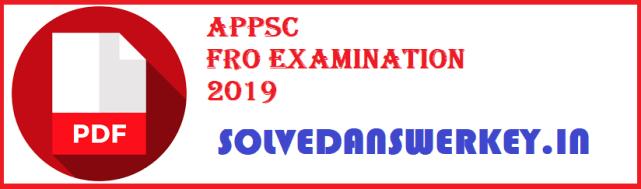 APPSC FRO Examination 2020