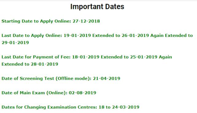 APPSC Panchayat Secretary Examination 2019