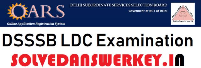 DSSSB LDC Examination 2019