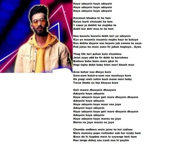 Adayein Muhfaad Punjabi Song Mp3 Lyrics