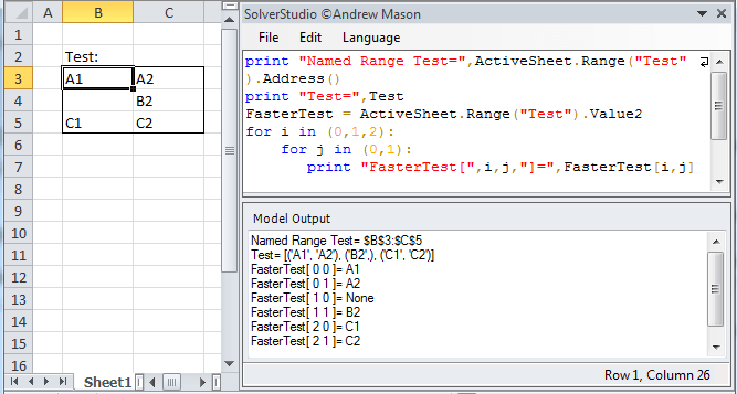 An integrated environment for optimisation using modelling languages within Excel