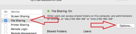 MAC File Sharing