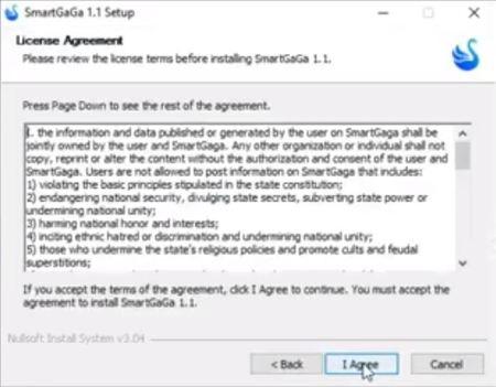 SmartGaga Installation License Agreement