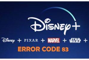 Disney Plus Error 83 Fix