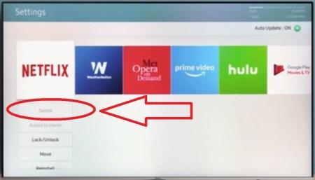 Cannot Delete Samsung Smart TV Preloaded App