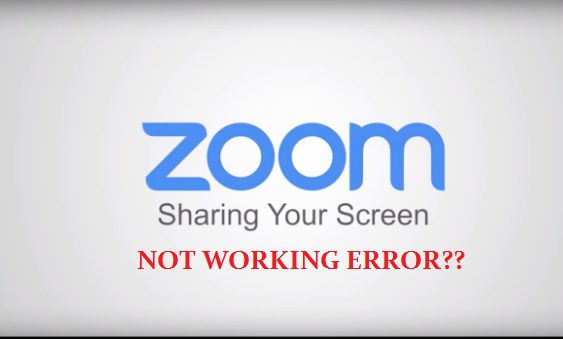 Zoom Screen Sharing Not Working