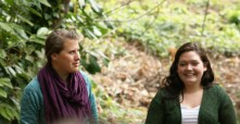 Nicole (SOLVE) and Marley discuss the health of Rinearson creek