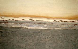 'Section'. Joe Dias (sand and acrylic).
