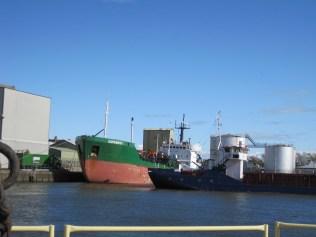 Dwarfed by molasses-tanker Zapadnyy