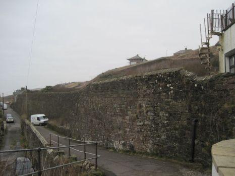 A Parton sandstone wall