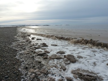 Ice-floes, Allonby. (Photo: Eileen Palmer)