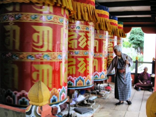 Prayer wheels - Bhutan