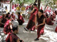 Debating monks at Sera, Tibet