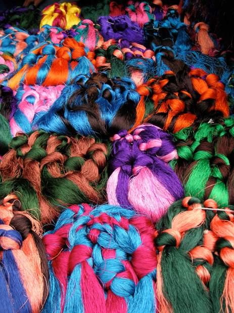 Hair embellishments at Barkhor Market - Tibet