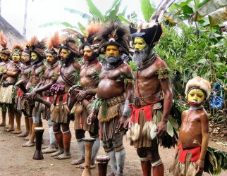 Tribe at attention
