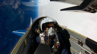 Bob rolling a MIG-29 over Russia