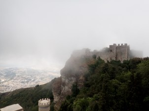 At Erice, a lovely hilltop town. Castle is a 12th century Normal castle.