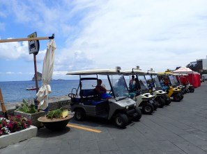 Panarea - only electric vehicles allowed.
