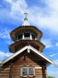 Kizhi Island traditional wooden building