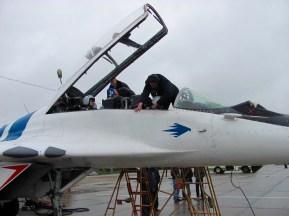 Final checks before canopy closes